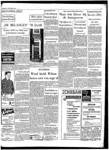 Rotterdamsch Parool / De Schiedammer 1963-10-01