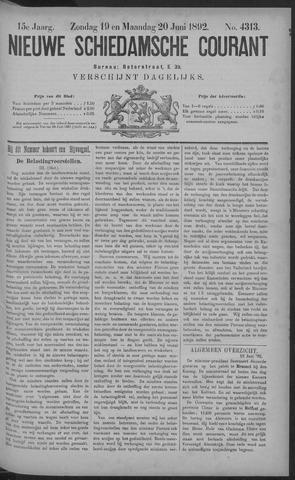 Nieuwe Schiedamsche Courant 1892-06-20