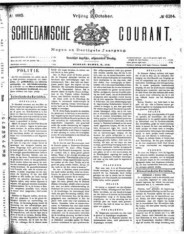 Schiedamsche Courant 1885-10-02