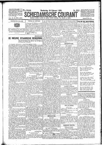 Schiedamsche Courant 1931-02-19