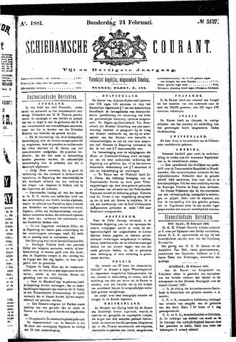 Schiedamsche Courant 1881-02-24