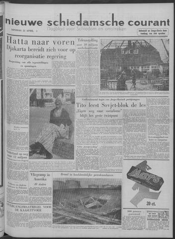 Nieuwe Schiedamsche Courant 1958-04-22