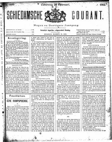 Schiedamsche Courant 1885-02-28