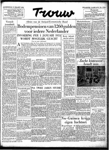 Trouw / De Rotterdammer 1954-03-11
