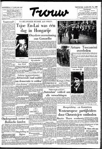 Trouw / De Rotterdammer 1957-01-17