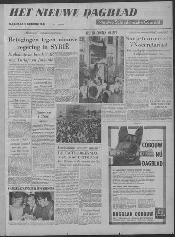Nieuwe Schiedamsche Courant 1961-10-02