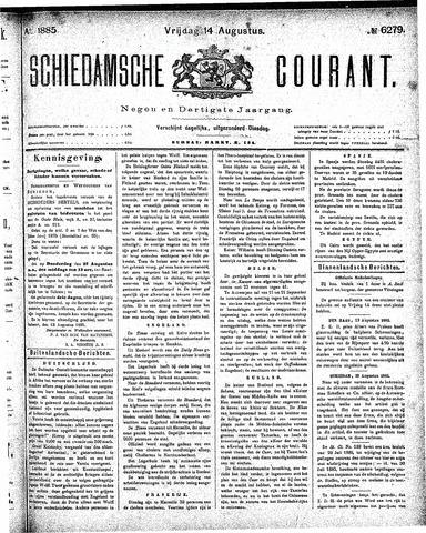 Schiedamsche Courant 1885-08-14