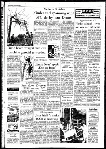 Rotterdamsch Parool / De Schiedammer 1962-02-12