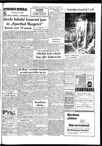 Rotterdamsch Nieuwsblad / Schiedamsche Courant / Rotterdams Dagblad / Waterweg / Algemeen Dagblad 1966-12-07