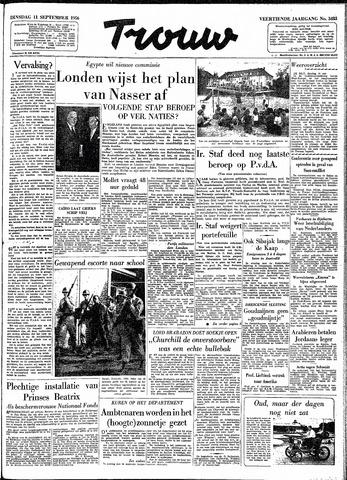 Trouw / De Rotterdammer 1956-09-11