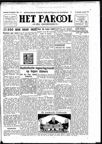 Rotterdamsch Parool / De Schiedammer 1945-09-29