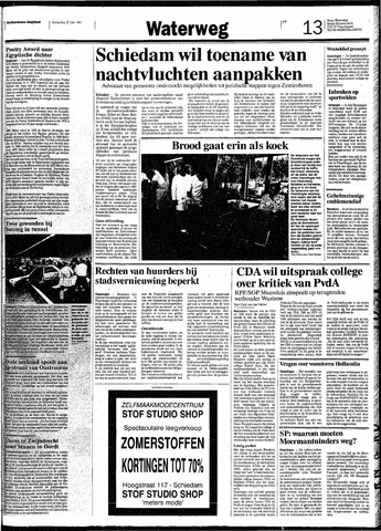 Rotterdamsch Nieuwsblad / Schiedamsche Courant / Rotterdams Dagblad / Waterweg / Algemeen Dagblad 1991-06-27