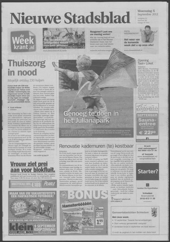 Het Nieuwe Stadsblad 2012-09-05