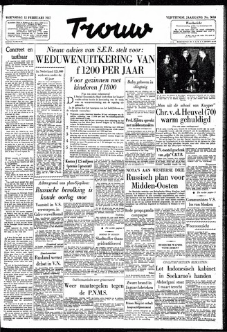 Trouw / De Rotterdammer 1957-02-13