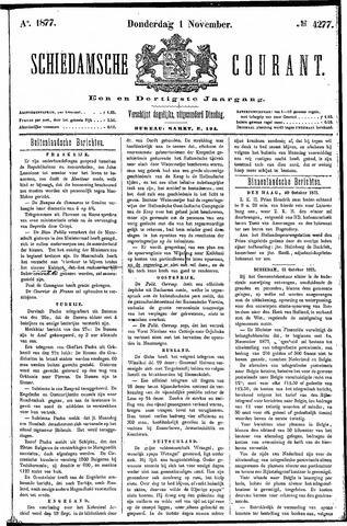 Schiedamsche Courant 1877-11-01