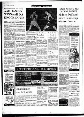 Rotterdamsch Parool / De Schiedammer 1968-10-08