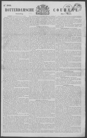 Rotterdamse Courant 1851-03-01