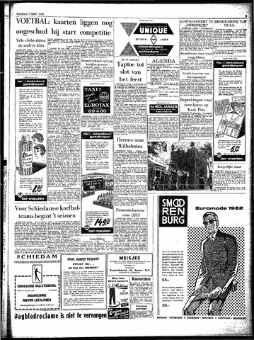 Rotterdamsch Parool / De Schiedammer 1962-09-07