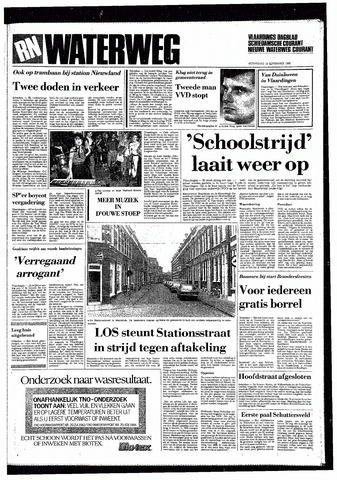 Rotterdamsch Nieuwsblad / Schiedamsche Courant / Rotterdams Dagblad / Waterweg / Algemeen Dagblad 1985-09-18
