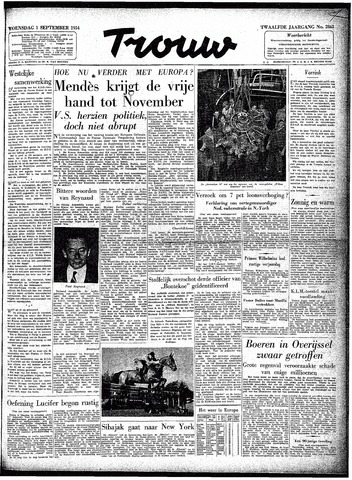 Trouw / De Rotterdammer 1954-09-01