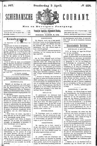 Schiedamsche Courant 1877-04-05