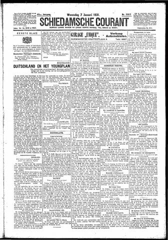 Schiedamsche Courant 1931-01-07