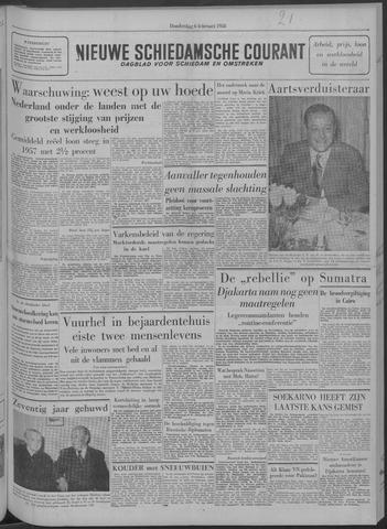 Nieuwe Schiedamsche Courant 1958-02-06