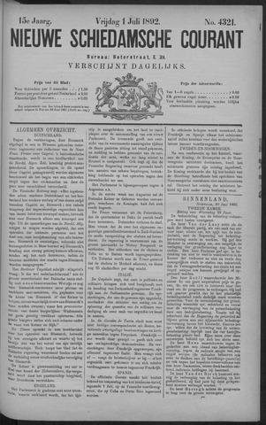 Nieuwe Schiedamsche Courant 1892-07-01
