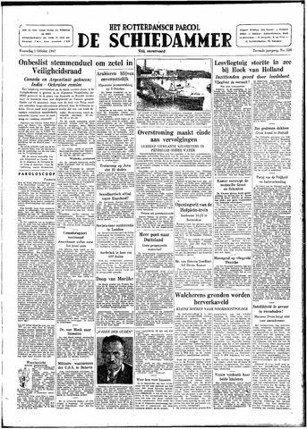 Rotterdamsch Parool / De Schiedammer 1947-10-01