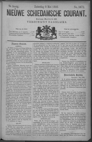 Nieuwe Schiedamsche Courant 1886-05-08