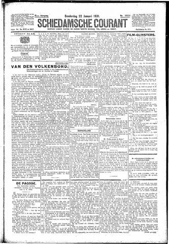 Schiedamsche Courant 1931-01-22