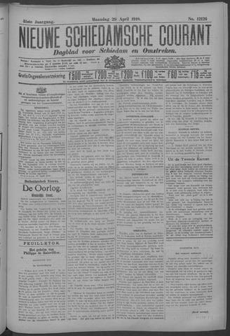 Nieuwe Schiedamsche Courant 1918-04-29