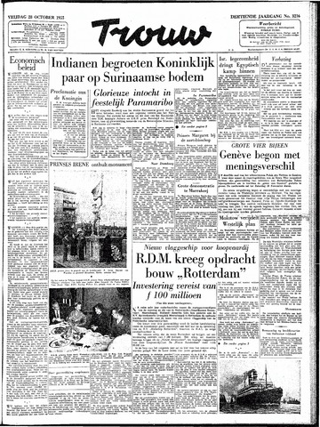 Trouw / De Rotterdammer 1955-10-28