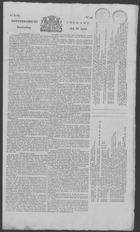 Rotterdamse Courant 1841-04-29