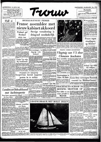 Trouw / De Rotterdammer 1957-06-13