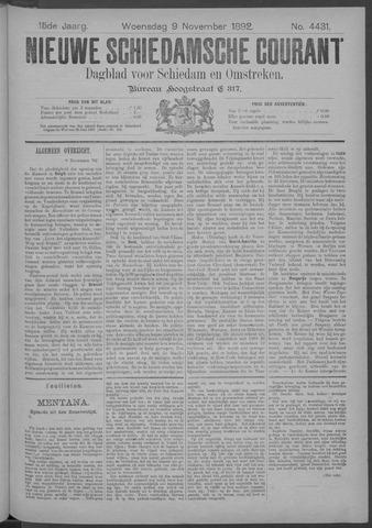 Nieuwe Schiedamsche Courant 1892-11-09