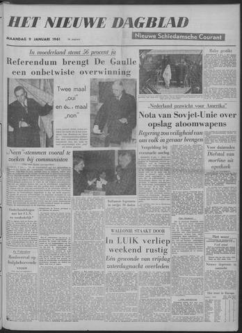 Nieuwe Schiedamsche Courant 1961-01-09