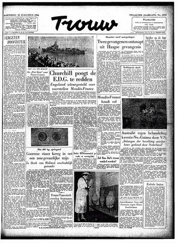 Trouw / De Rotterdammer 1954-08-18