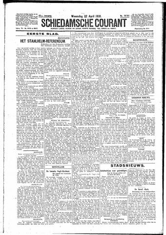 Schiedamsche Courant 1931-04-22