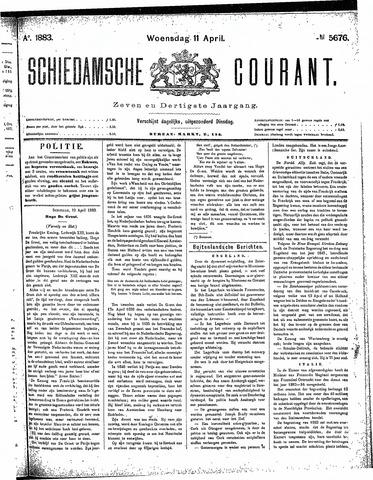Schiedamsche Courant 1883-04-11