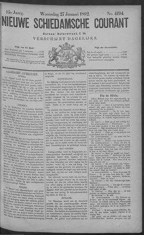 Nieuwe Schiedamsche Courant 1892-01-27