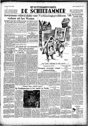 Rotterdamsch Parool / De Schiedammer 1948-06-19