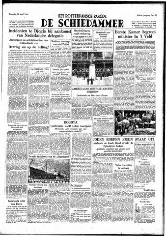 Rotterdamsch Parool / De Schiedammer 1948-04-14