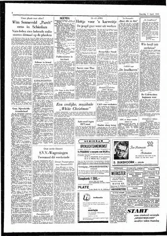 Rotterdamsch Parool / De Schiedammer 1955-04-09