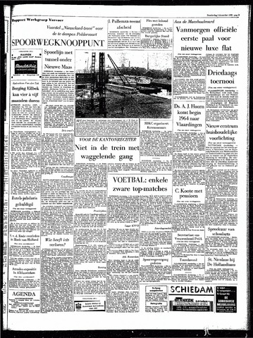 Rotterdamsch Parool / De Schiedammer 1963-12-05