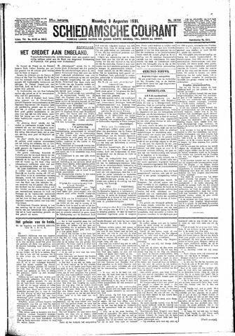 Schiedamsche Courant 1931-08-03