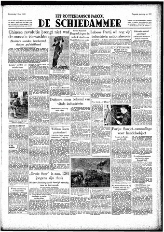 Rotterdamsch Parool / De Schiedammer 1949-06-09