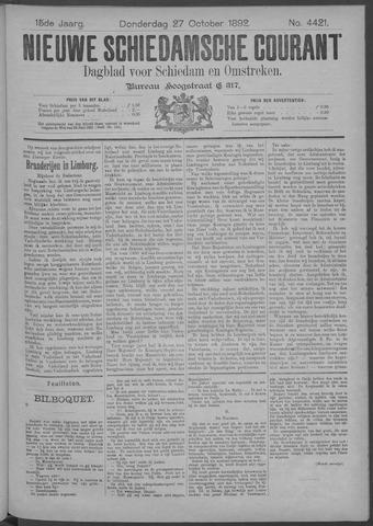 Nieuwe Schiedamsche Courant 1892-10-27
