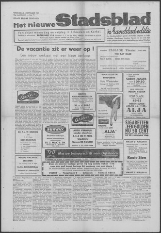 Het Nieuwe Stadsblad 1961-09-06