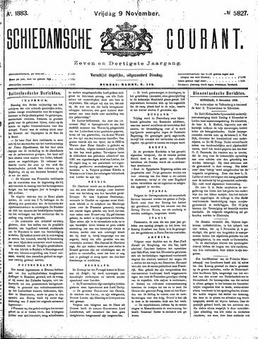 Schiedamsche Courant 1883-11-09